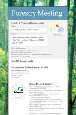Forestry Meeting