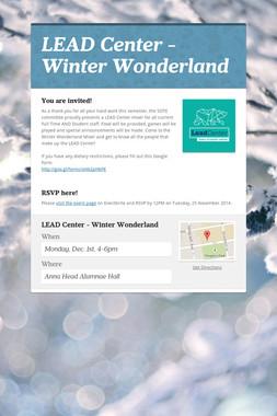 LEAD Center - Winter Wonderland