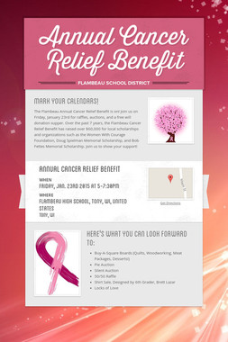 Annual Cancer Relief Benefit