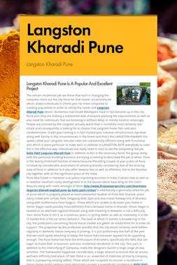 Langston Kharadi Pune