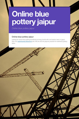 Online blue pottery jaipur