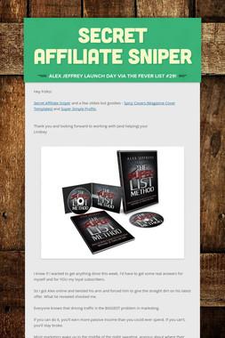 Secret Affiliate Sniper