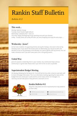 Rankin Staff Bulletin