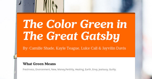 The Color Green in The Great Gatsby | Smore Newsletters