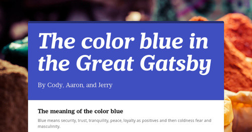 color references in the great gatsby