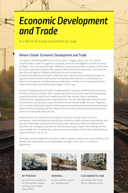 Economic  Development and Trade