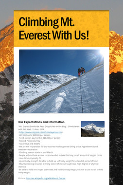 Climbing Mt. Everest With Us!