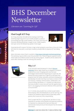 BHS December Newsletter