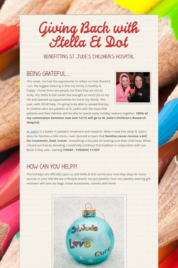 Giving Back with Stella & Dot