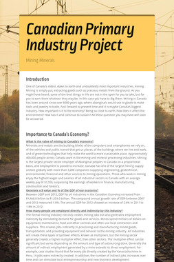 Canadian Primary Industry Project