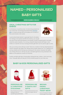 Named - Personalised Baby Gifts