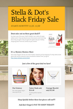 Stella & Dot's Black Friday Sale