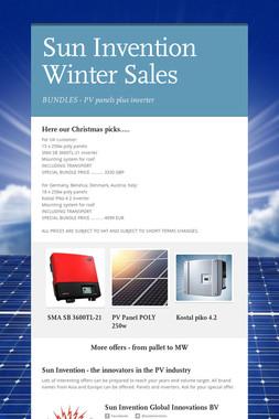 Sun Invention Winter Sales