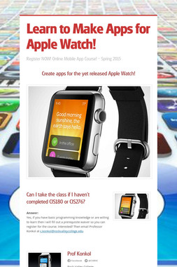 Learn to Make Apps for Apple Watch!