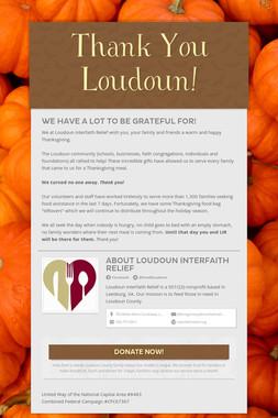 Thank You Loudoun!