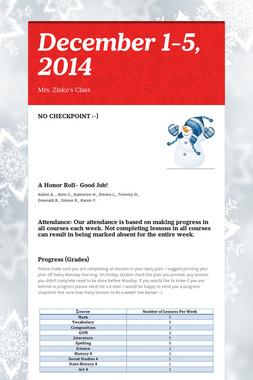 December 1-5, 2014