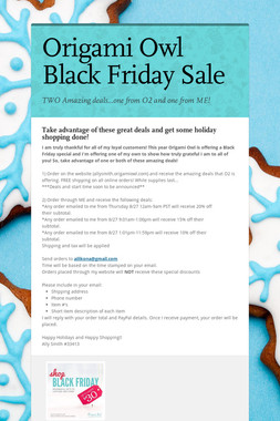 Origami Owl Black Friday Sale