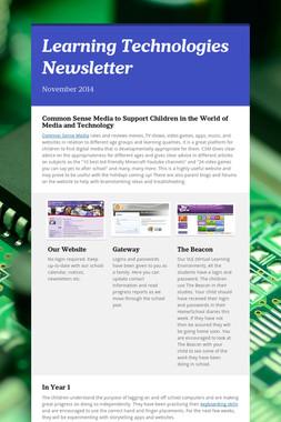 Learning Technologies Newsletter