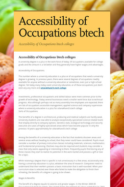 Accessibility of Occupations btech