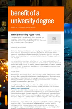 benefit of a university degree