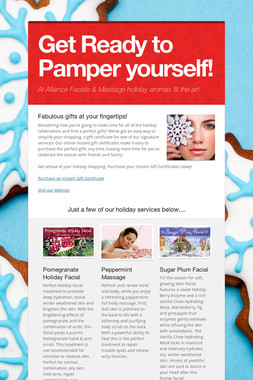Get Ready to Pamper yourself!