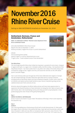 November 2016 Rhine River Cruise