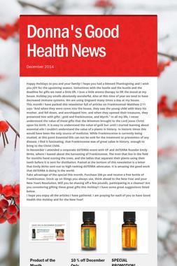 Donna's Good Health News