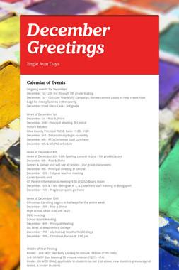 December Greetings
