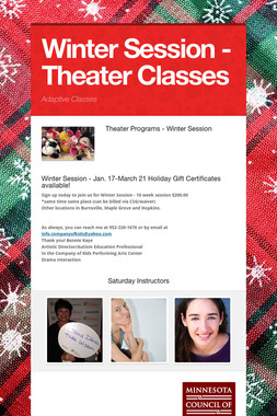 Winter Session - Theater Classes