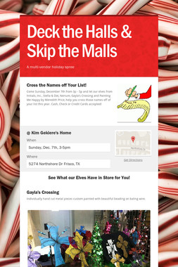 Deck the Halls & Skip the Malls