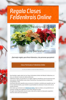 Regala Clases Feldenkrais Online