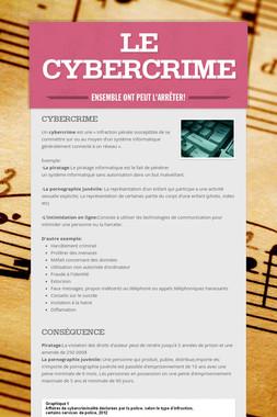 Le cybercrime