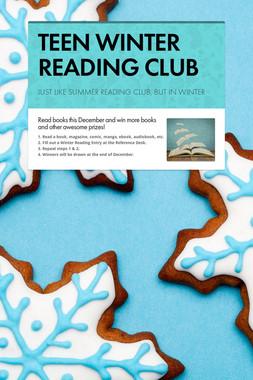 TEEN WINTER READING CLUB