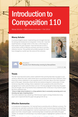 Introduction to Composition 110