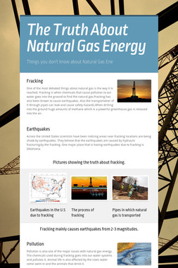 The Truth About Natural Gas Energy