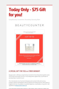 Today Only - $75 Gift for you!