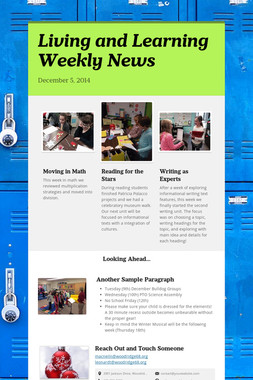 Living and Learning Weekly News