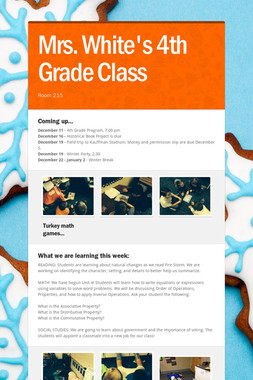 Mrs. White's 4th Grade Class