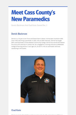 Meet Cass County's New Paramedics