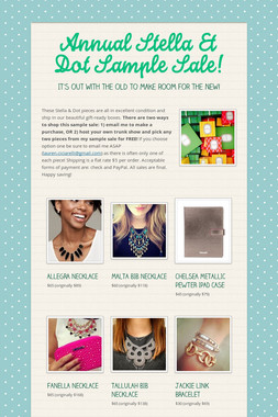 Annual Stella & Dot Sample Sale!