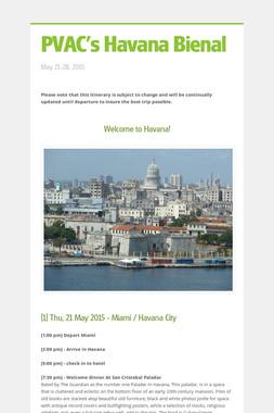 PVAC's Havana Bienal