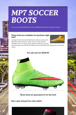 MP7 SOCCER BOOTS