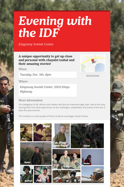Evening with the IDF