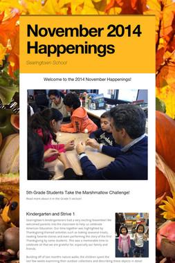November 2014 Happenings