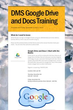 DMS Google Drive and Docs Training