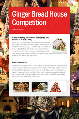 Ginger Bread House Competition