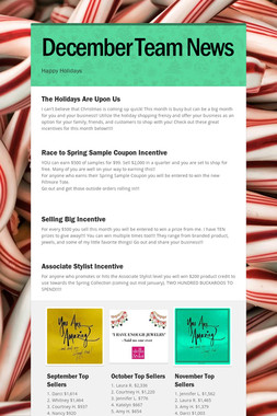 December Team News