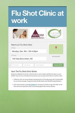 Flu Shot Clinic at work