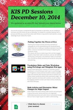 KIS PD Sessions December 10, 2014