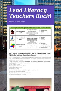 Lead Literacy Teachers Rock!